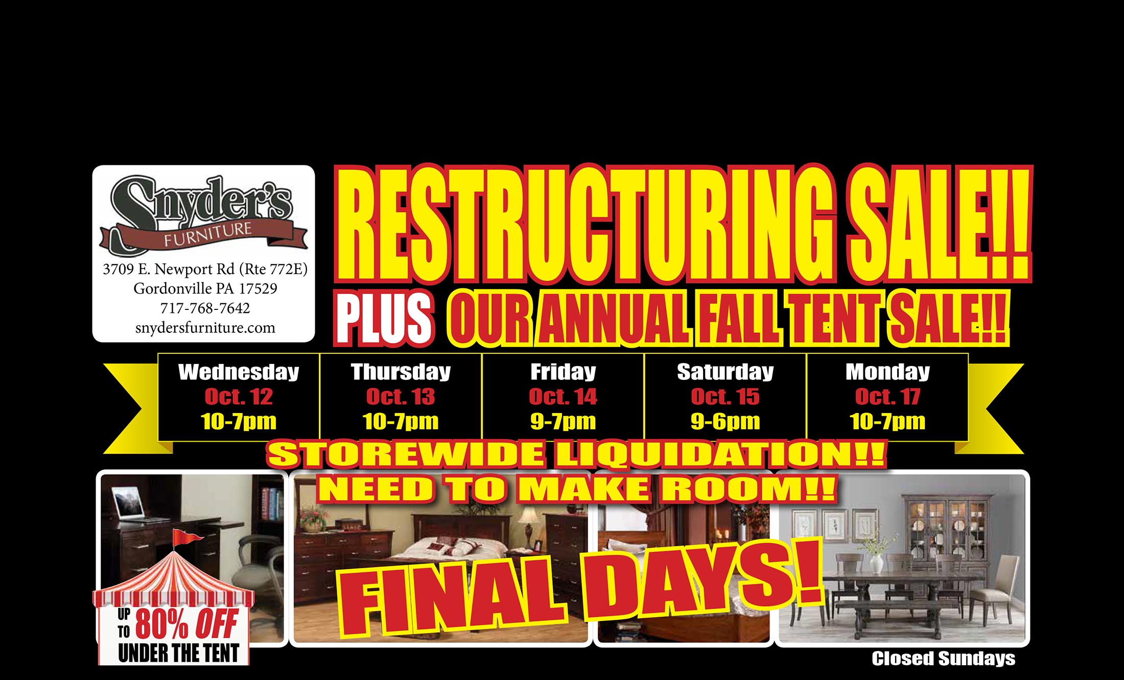 Restructuring Sale