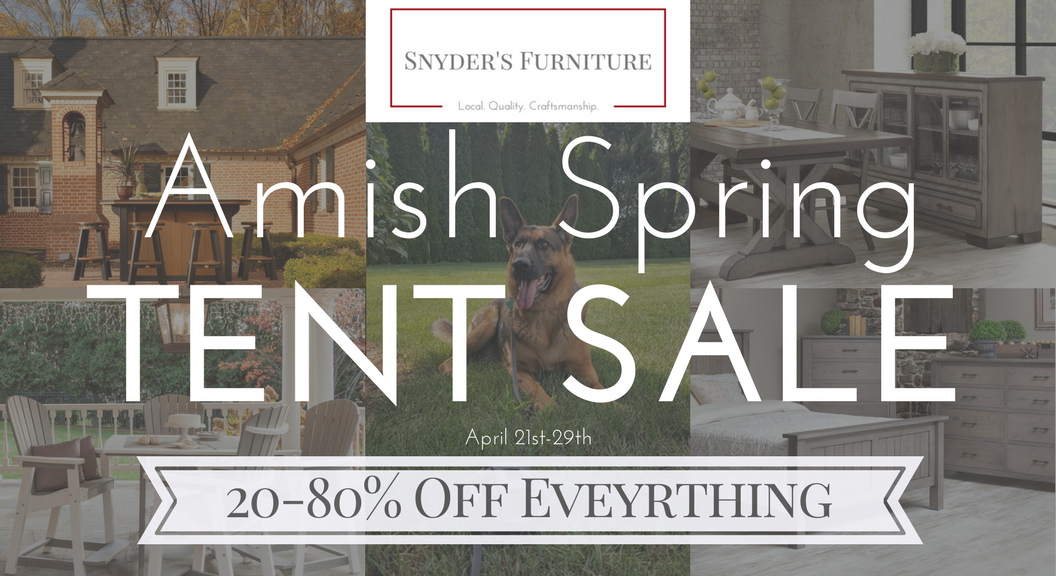 Amish Spring Tent Sale