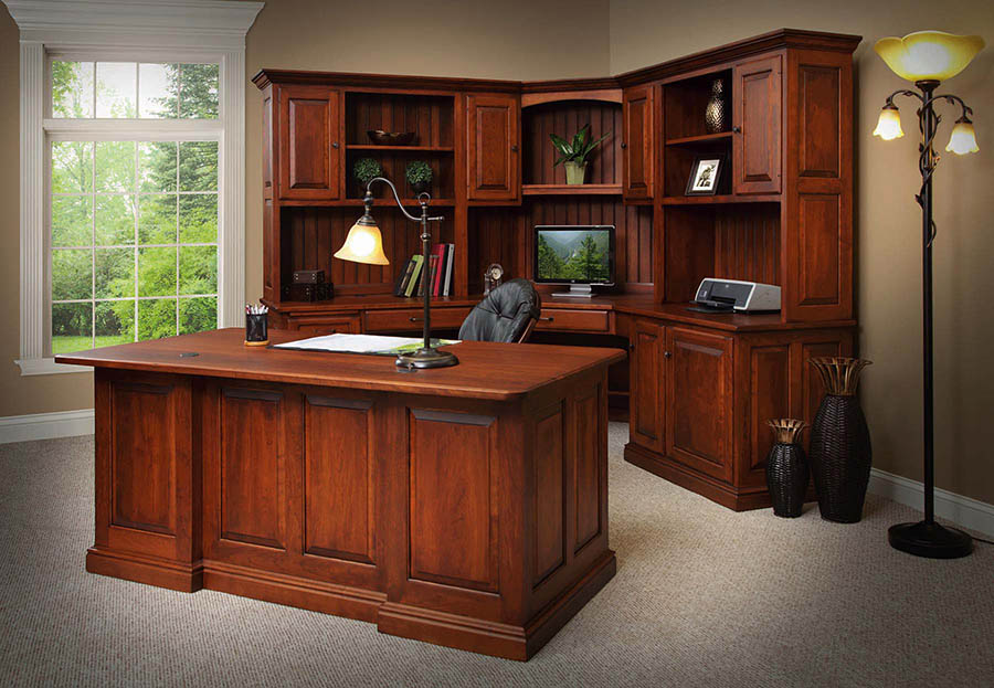 Amish office furniture home office amish furniture lancaster pa - Home office corner desk furniture ...