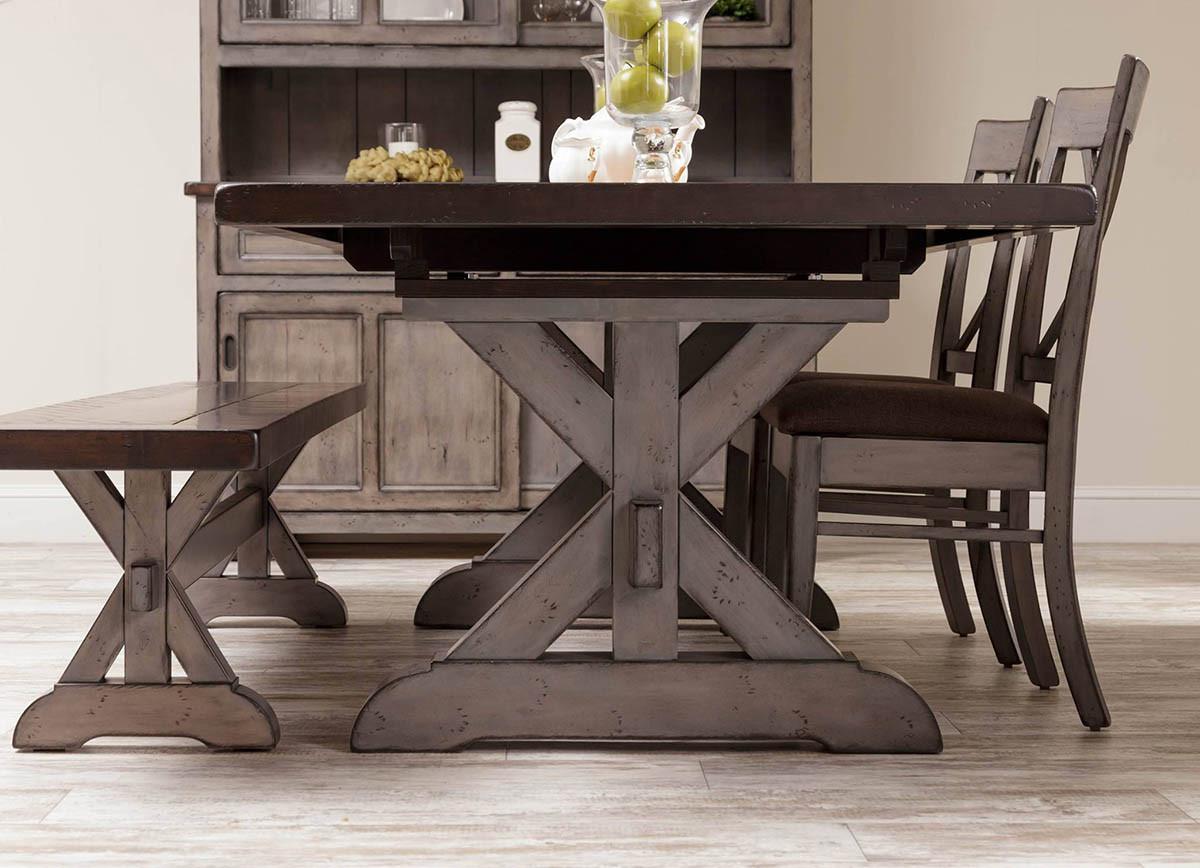 hudson amish dining table in lancaster county pa self storing or hudson amish trestle table