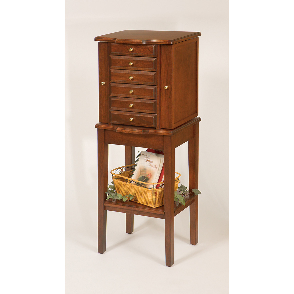 Traditional jewelry chest w stand for Stand traditionnel