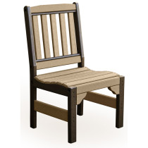 Amish English Garden Chair without Arms