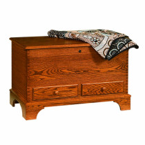 Carriage House Deep Storage Chest w/ Shaker Foot-Oak