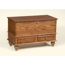 Carriage House Deep Storage Chest w/ Tulip Foot - Oak