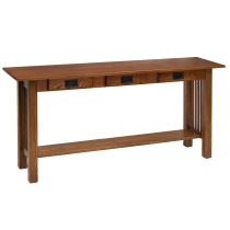 Amish Mission Sofa Table w/3 Drawers