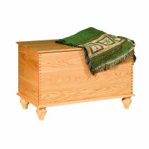 Savannah Deep Storage Chest w/ Tulip Foot - Oak