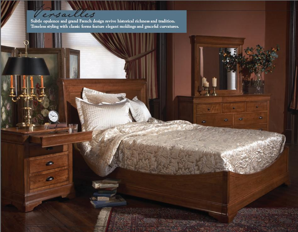 Amish Bedroom Suites | The Versailles Style