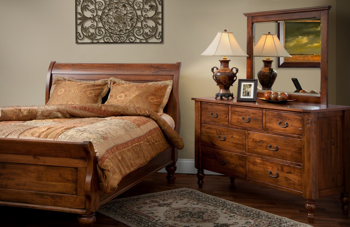 Amish bedroom suites canyon creek for Oak bedroom furniture