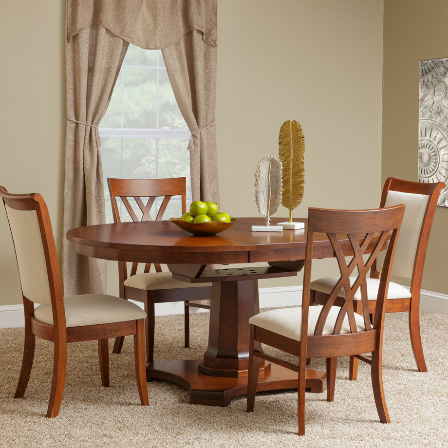 Hartford Round Amish Dining Table in Lancaster County PA ...