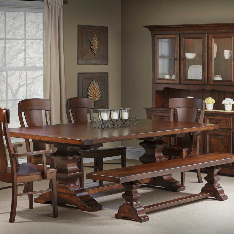 Ramsey Amish Dining Table In Lancaster County Pa Self
