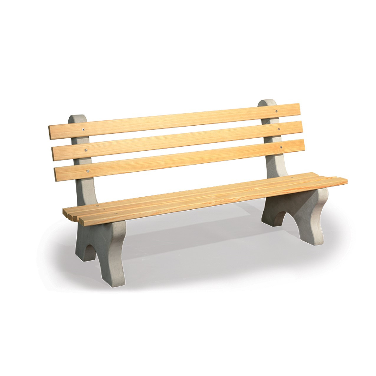 Amish Wooden Park Bench