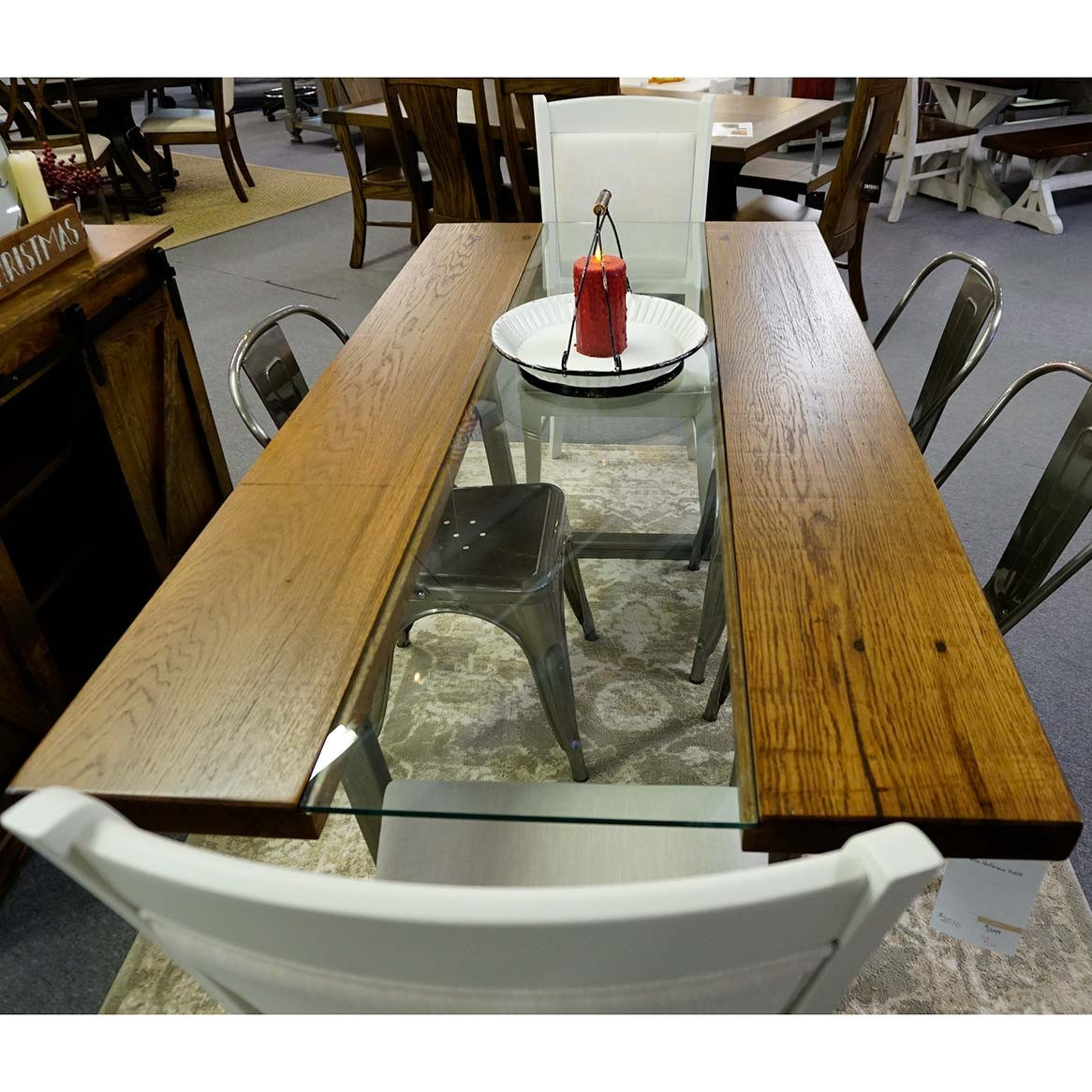 Metro Glass Amish Dining Table in Lancaster County PA ...