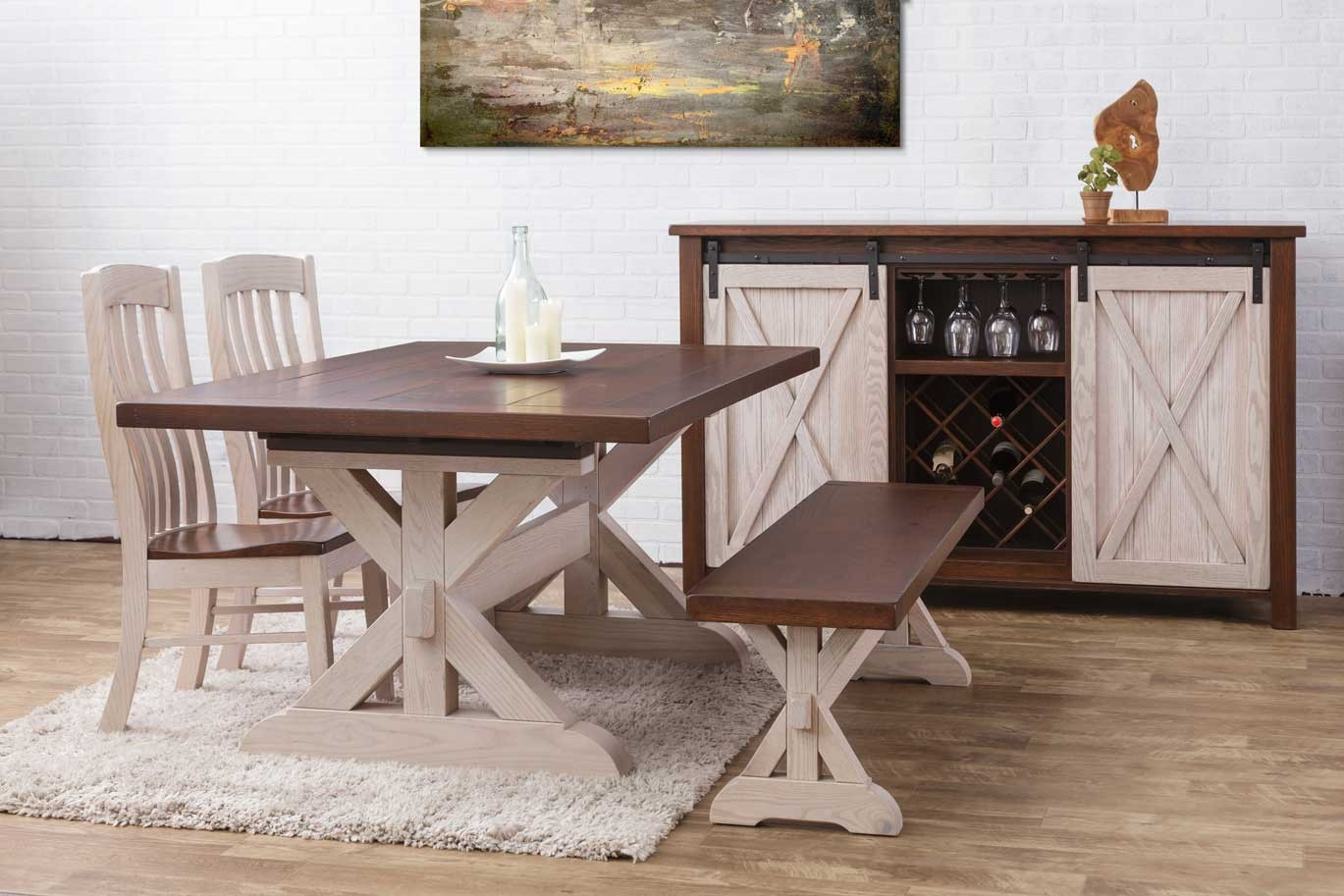 Hudson Amish Dining Table In Lancaster County Pa Self Storing Or Extension Style