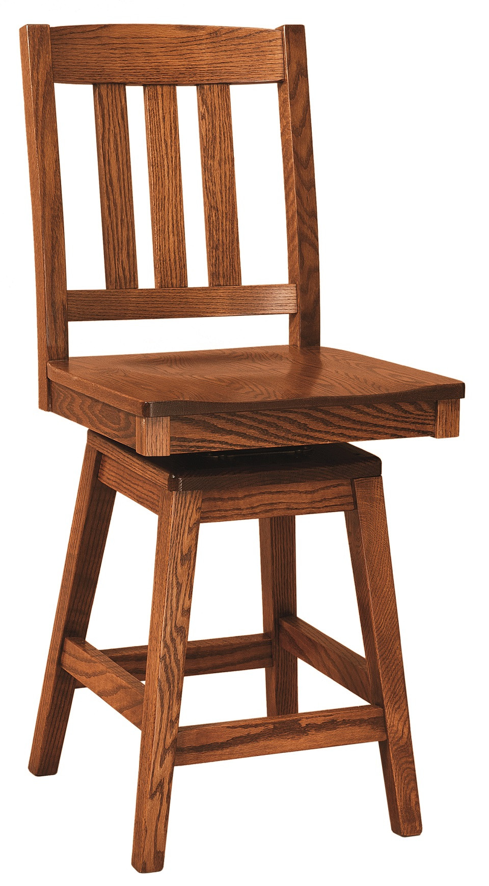 Ancient Mission Amish Swivel Bar Stool In Lancaster County