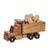 Large Dump Truck with Blocks