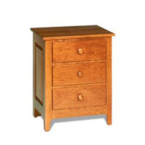 Shaker Windsor Night Table w/ 3 Drawers