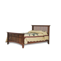 Slatted Mission Bed