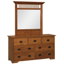 "Mission 7-Drawer 63"" Dresser"