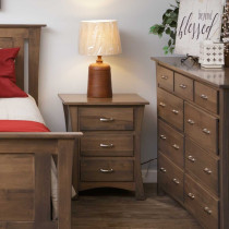 Oxford Night Stand in Smoke on Maple