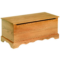 Plain Toy Chest - Oak